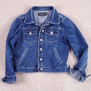 Express Crop Denim Exposed Buttons Jean Jacket